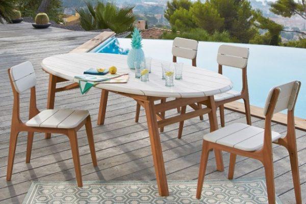 chaise table deco jardin